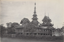 A Phoongyee house at Rangoon